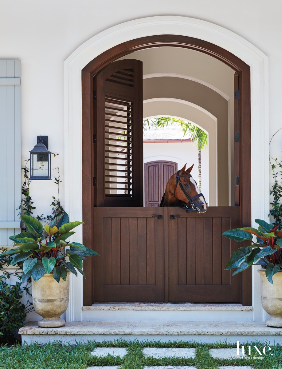 rustic exterior horse stables