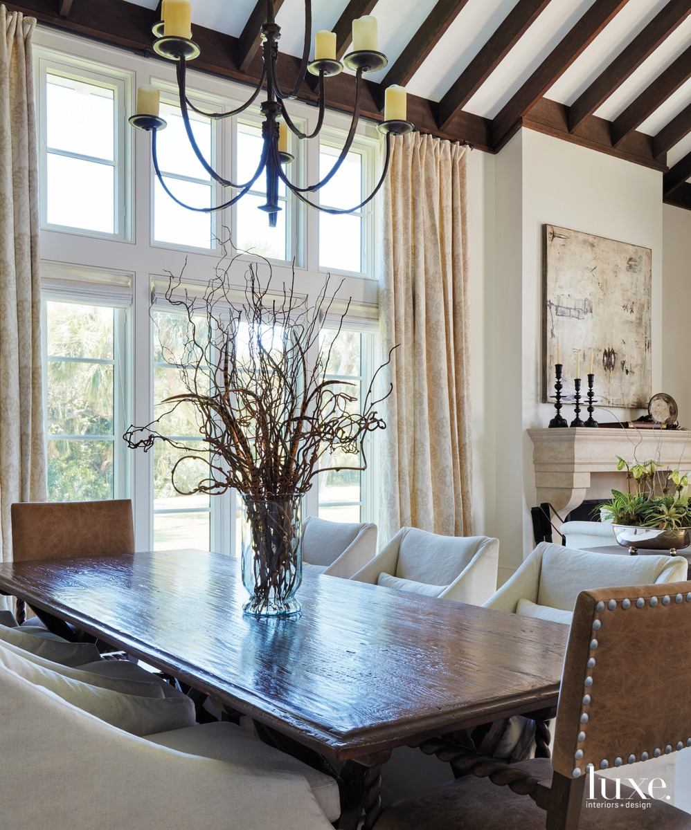 rustic dining room chandelier table