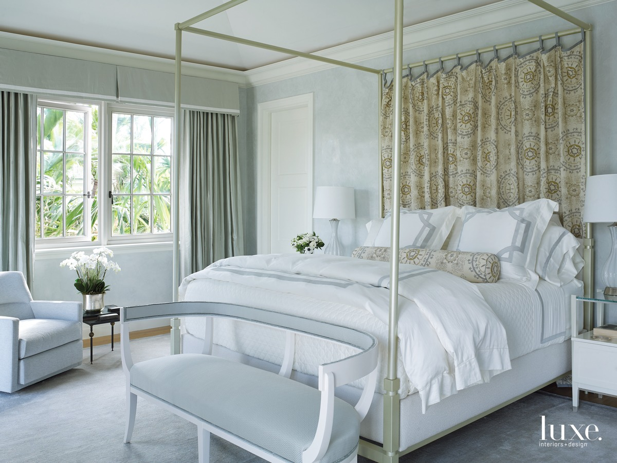 mediterranean white neutral bedroom canopy...