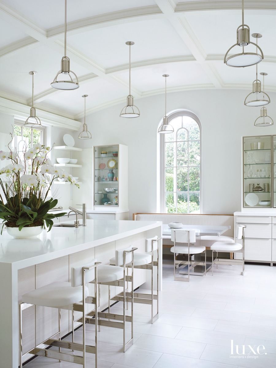 mediterranean white kitchen island with...