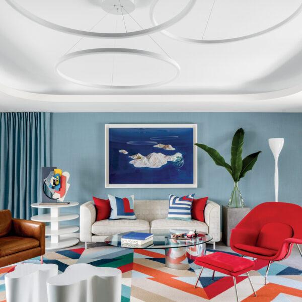Bold Hues And Geometrics Transform A Florida Home
