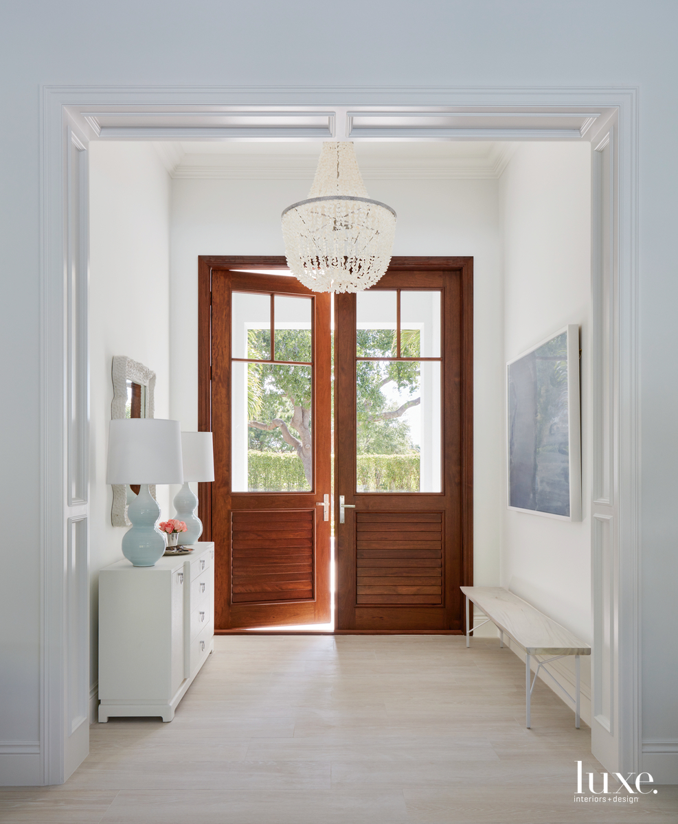 transitional entry blue gray and...