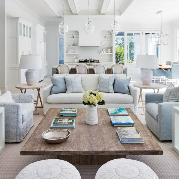 Soft Blues And Whites Fill A Serene Florida Retreat