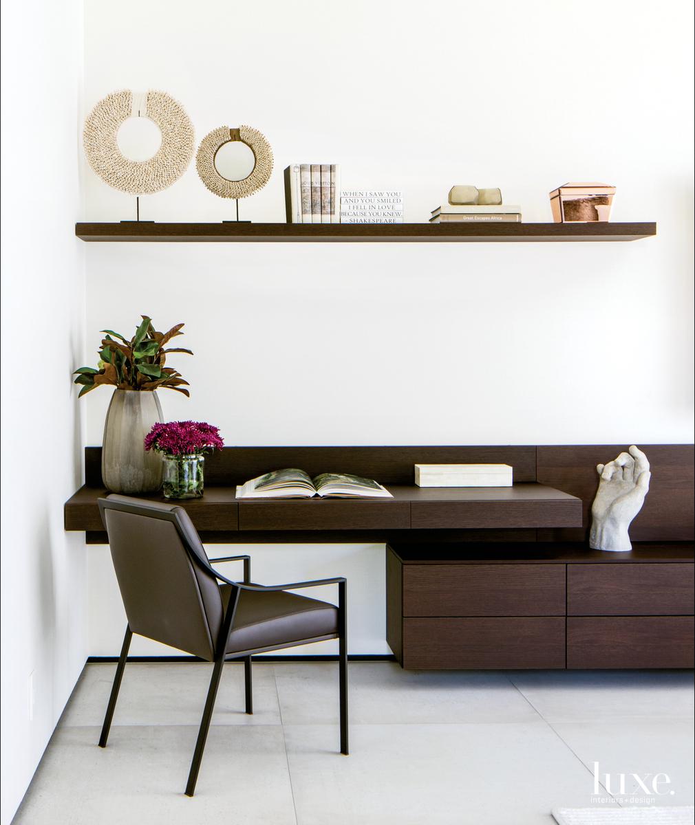 contemporary bedroom office area desk