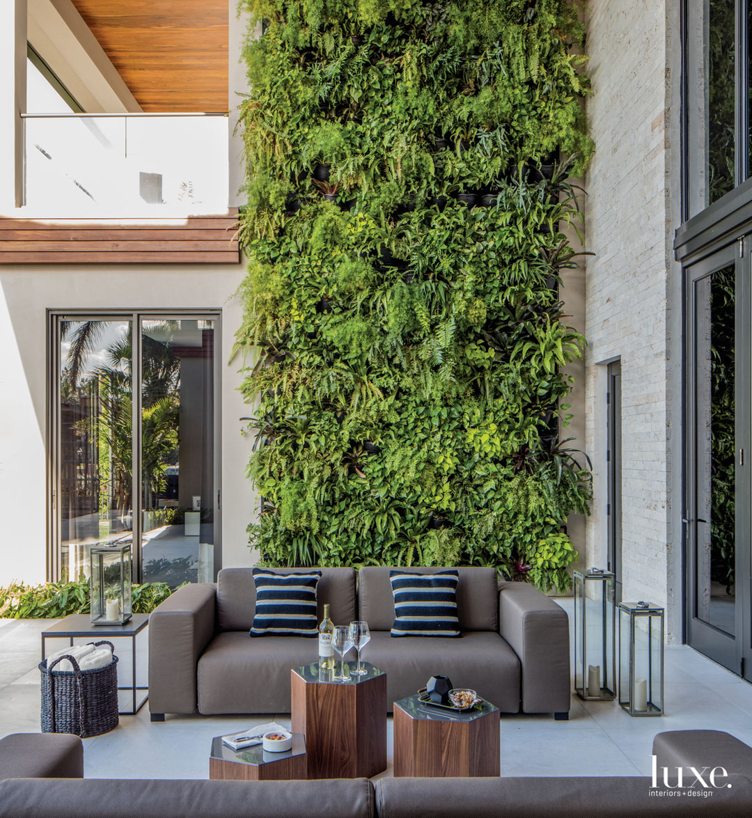 contemporary outdoor sitting area by...
