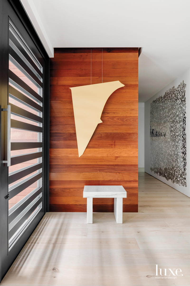 contemporary neutral hallway