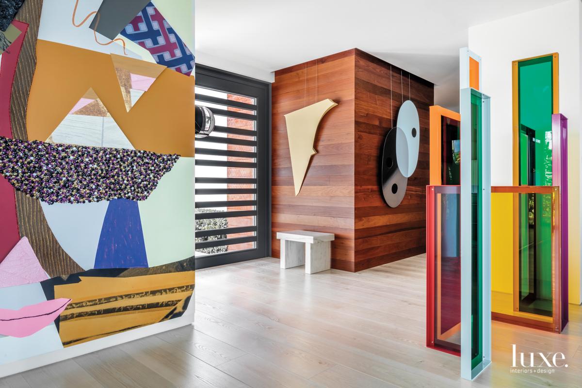 contemporary multi-color entry