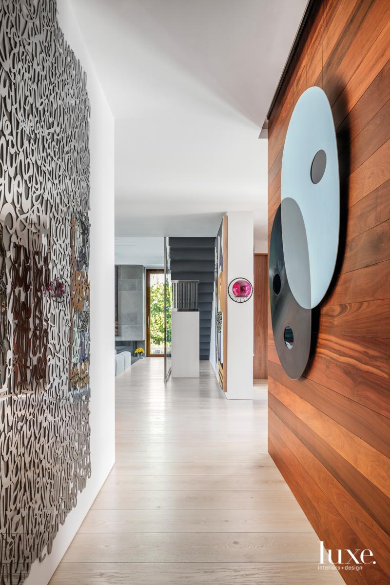contemporary hallway sculptures