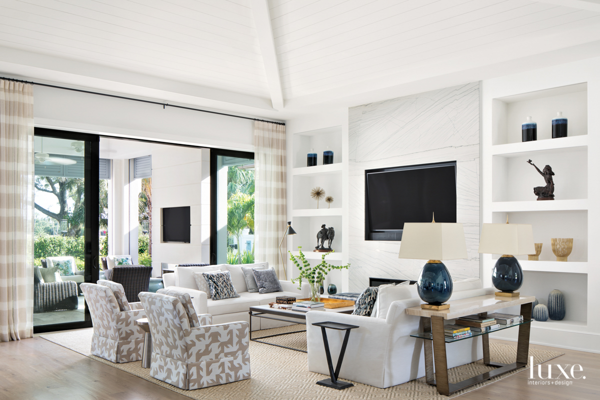 modern living room white and...