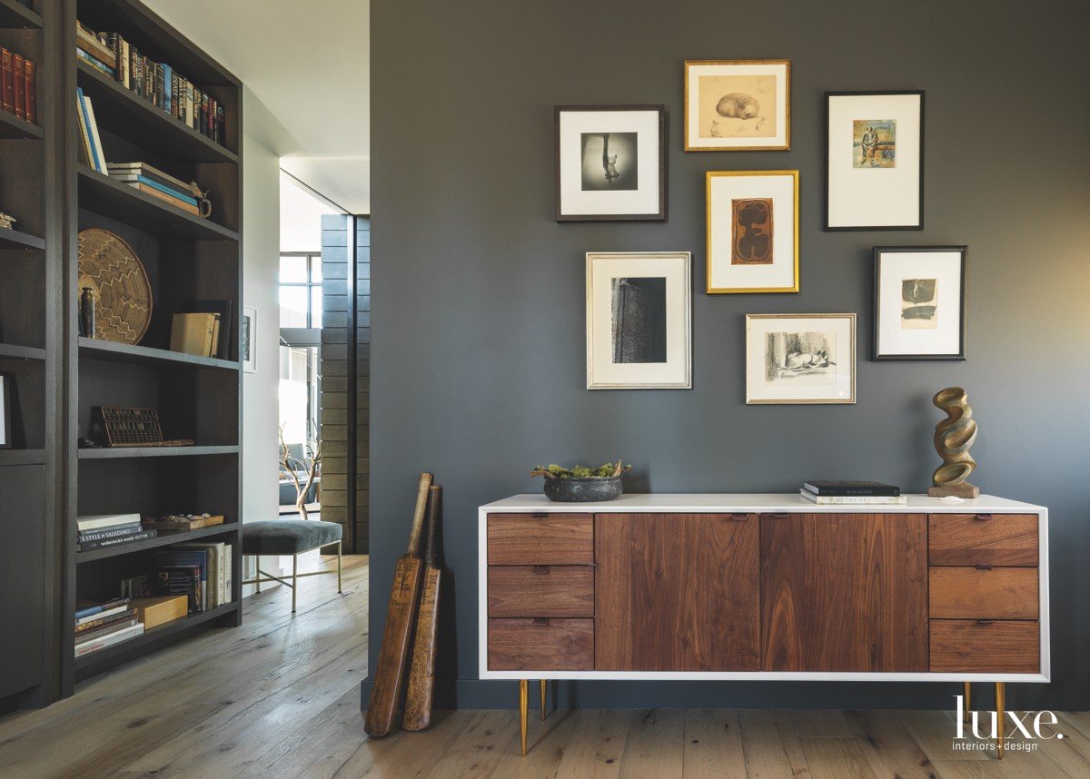 modern office wood cabinetry