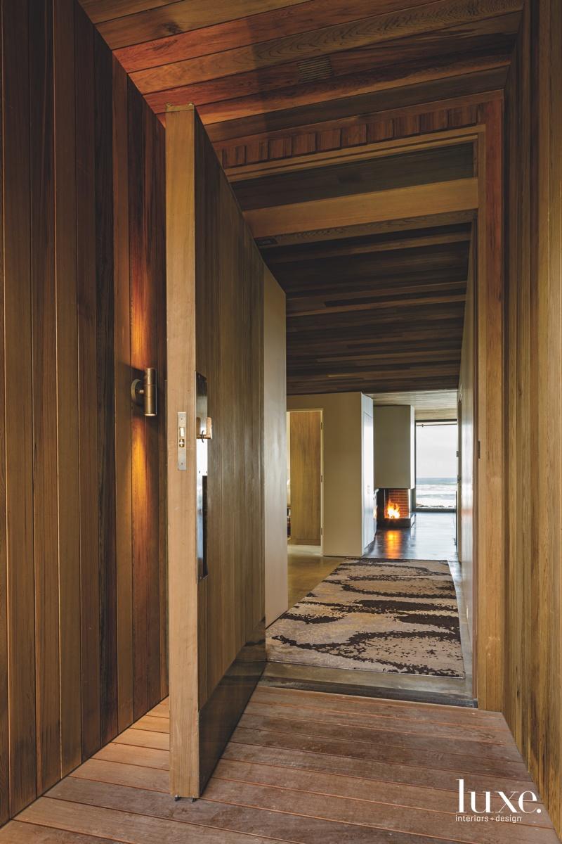modern entry hallway cedar front...