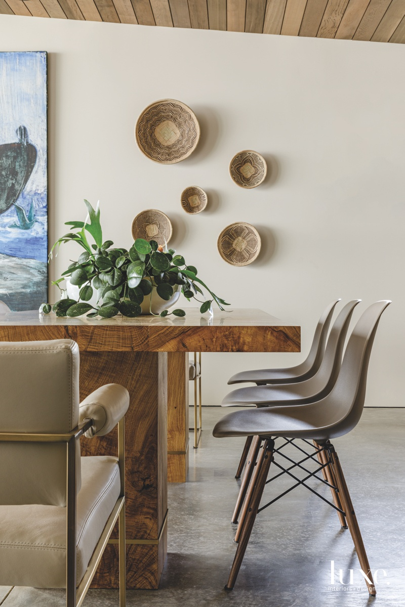 modern dining room armchairs oak-and-brass...