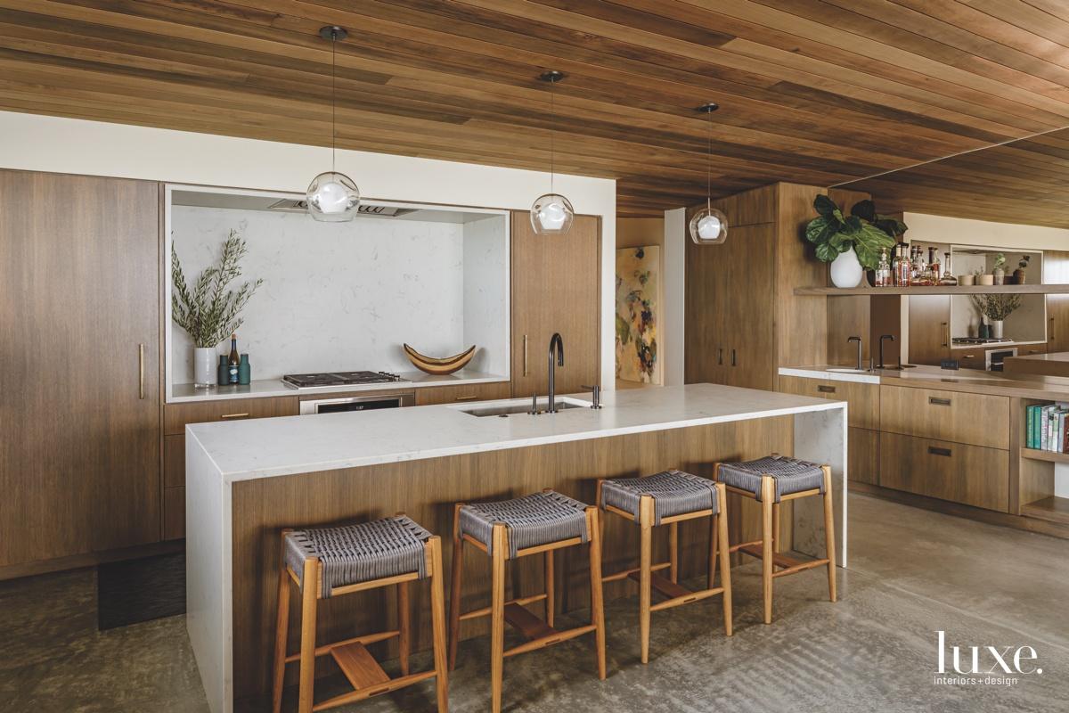 modern kitchen globe pendants white-oak...