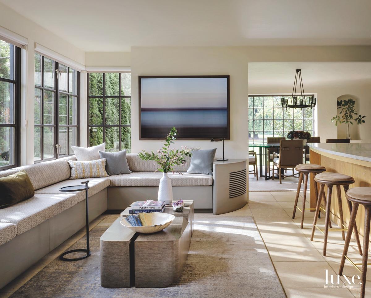 mediterranean living room seating area...