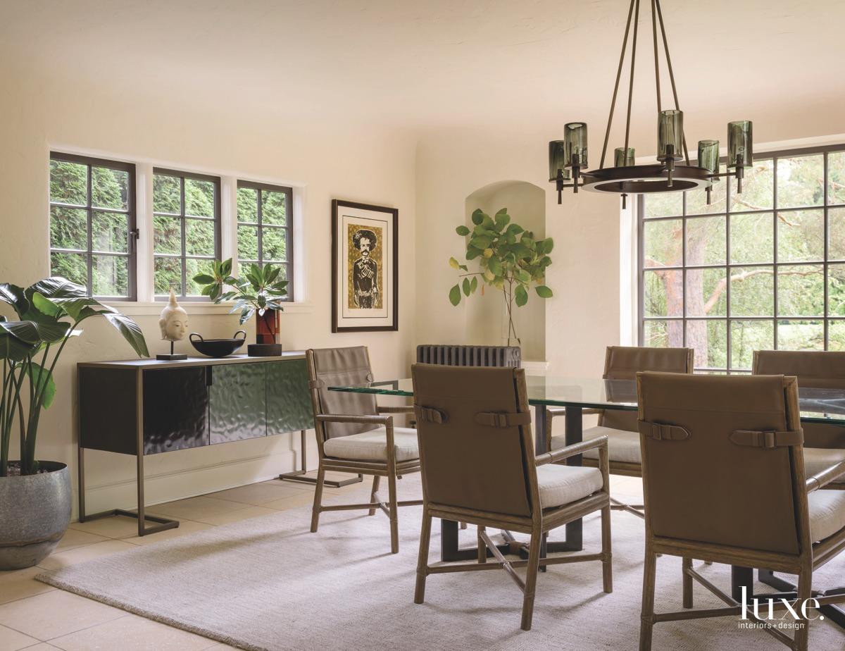 mediterranean neutral dining room