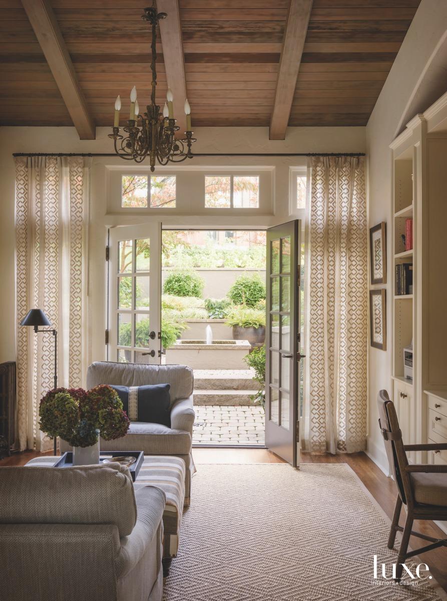 mediterranean neutral living room