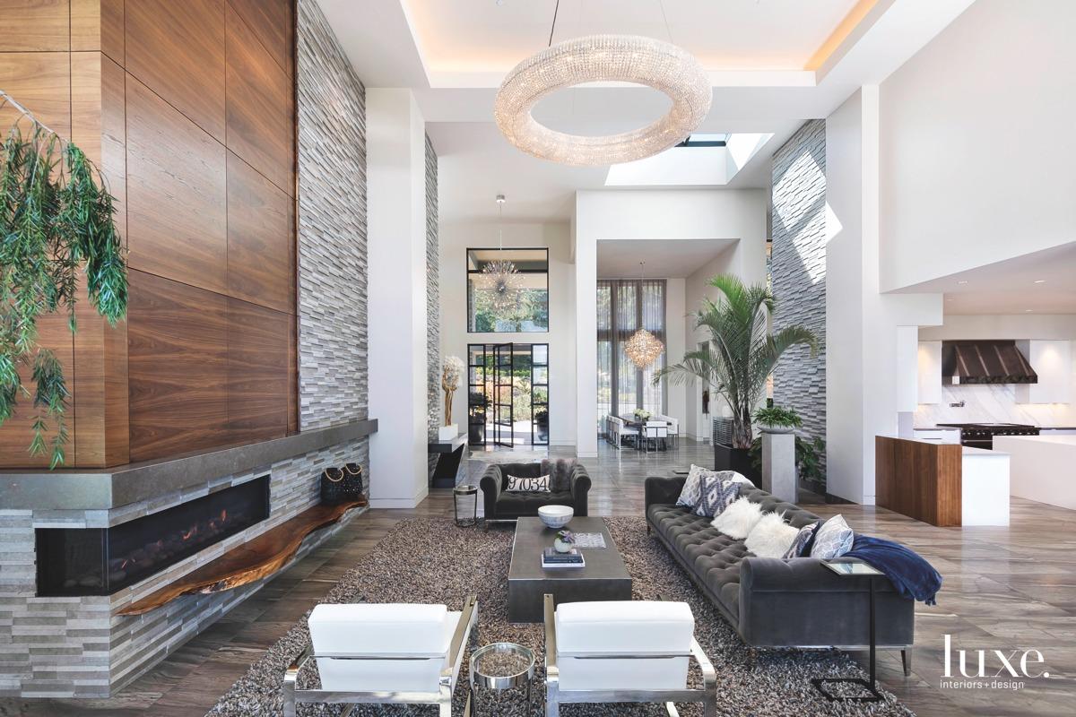 contemporary living room gray sofa...