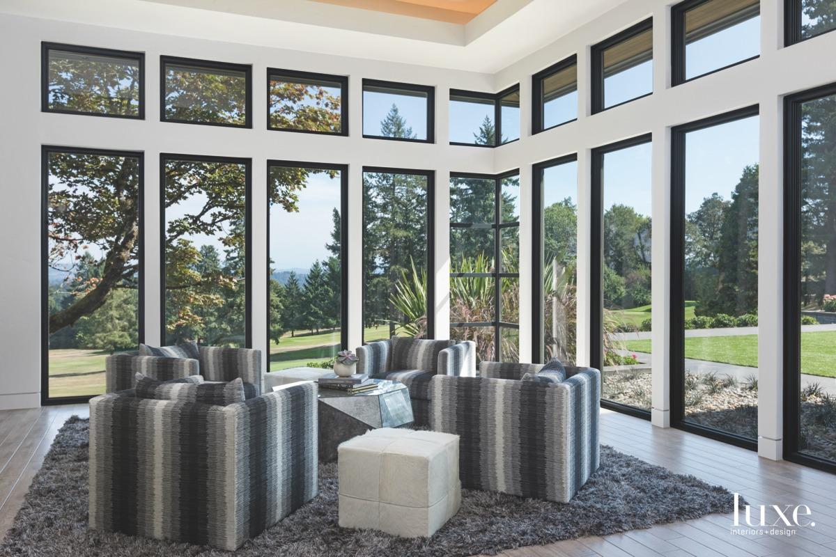 contemporary recreation room shag carpet...