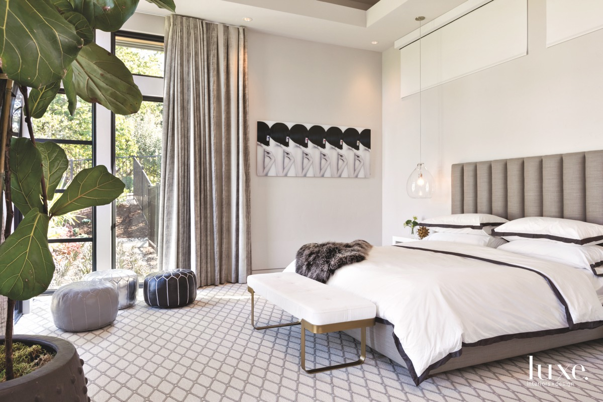 contemporary neutral bedroom white bed...
