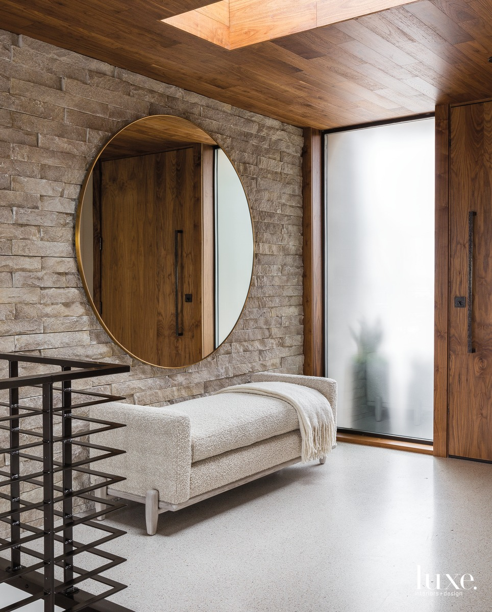 mid-century modern entry mirror neutral...