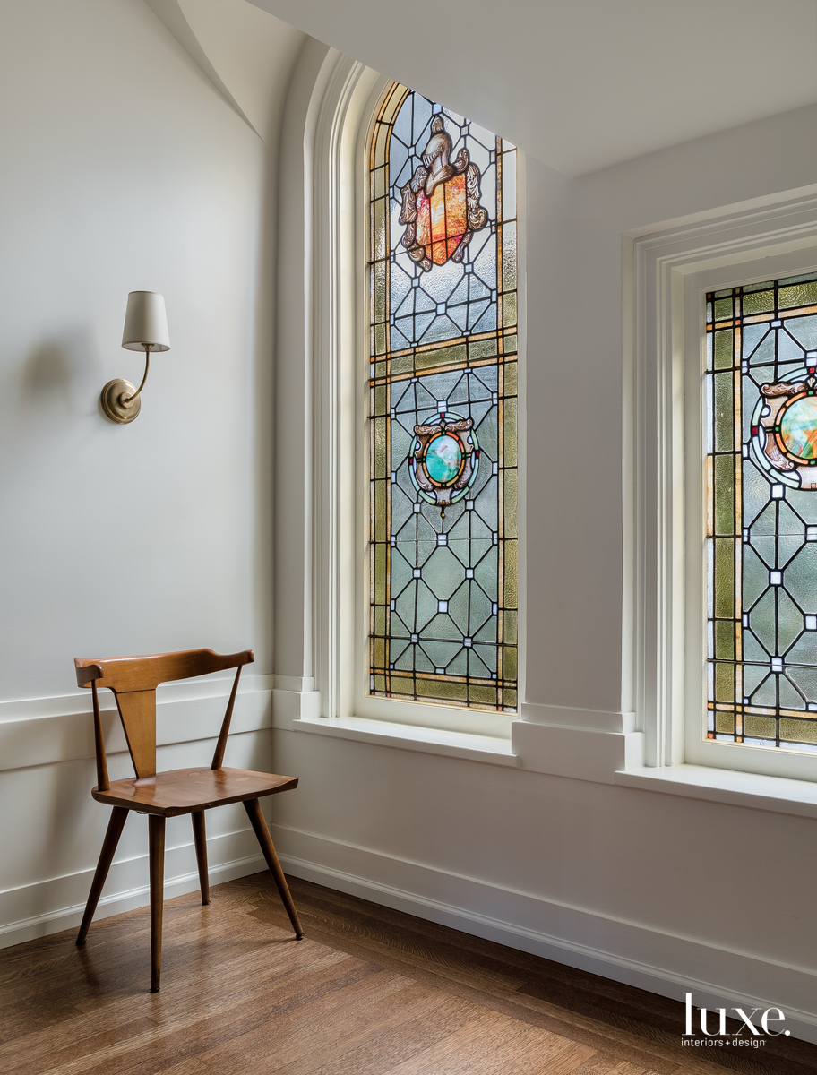 modern hall stained-glass windows