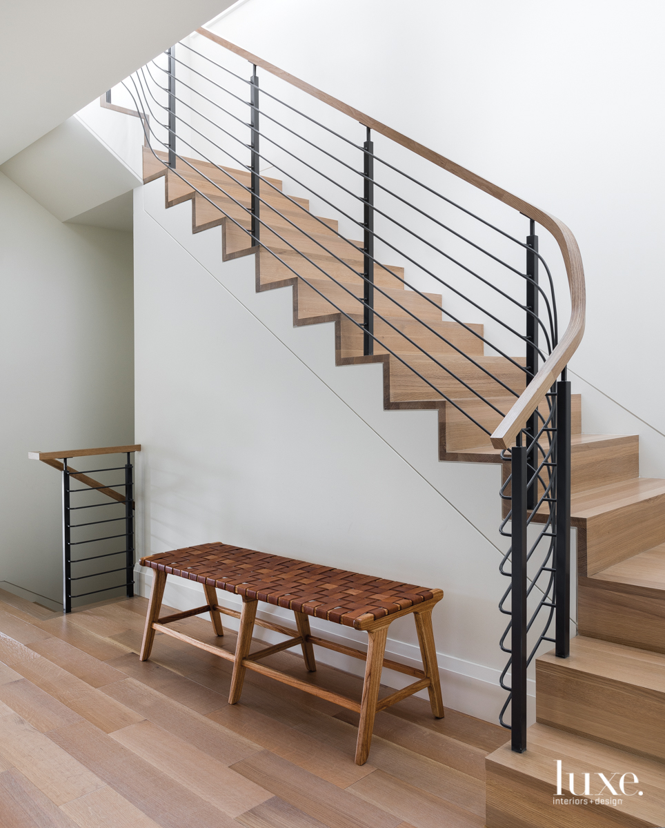modern neutral staircase