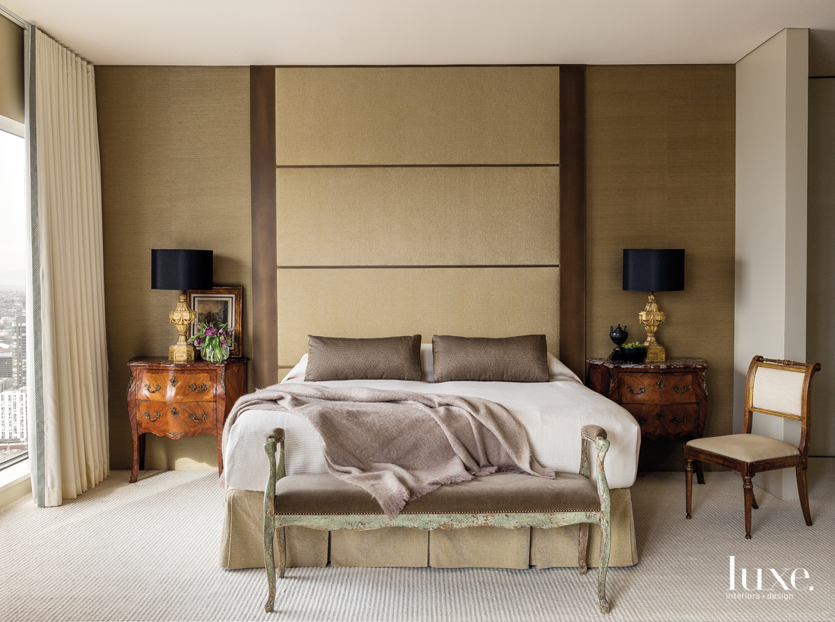 traditional bedroom neutral palette