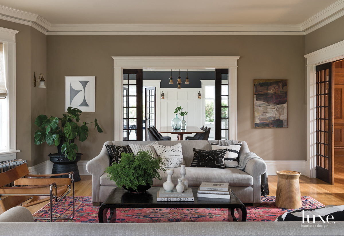 contemporary living room neutral and...
