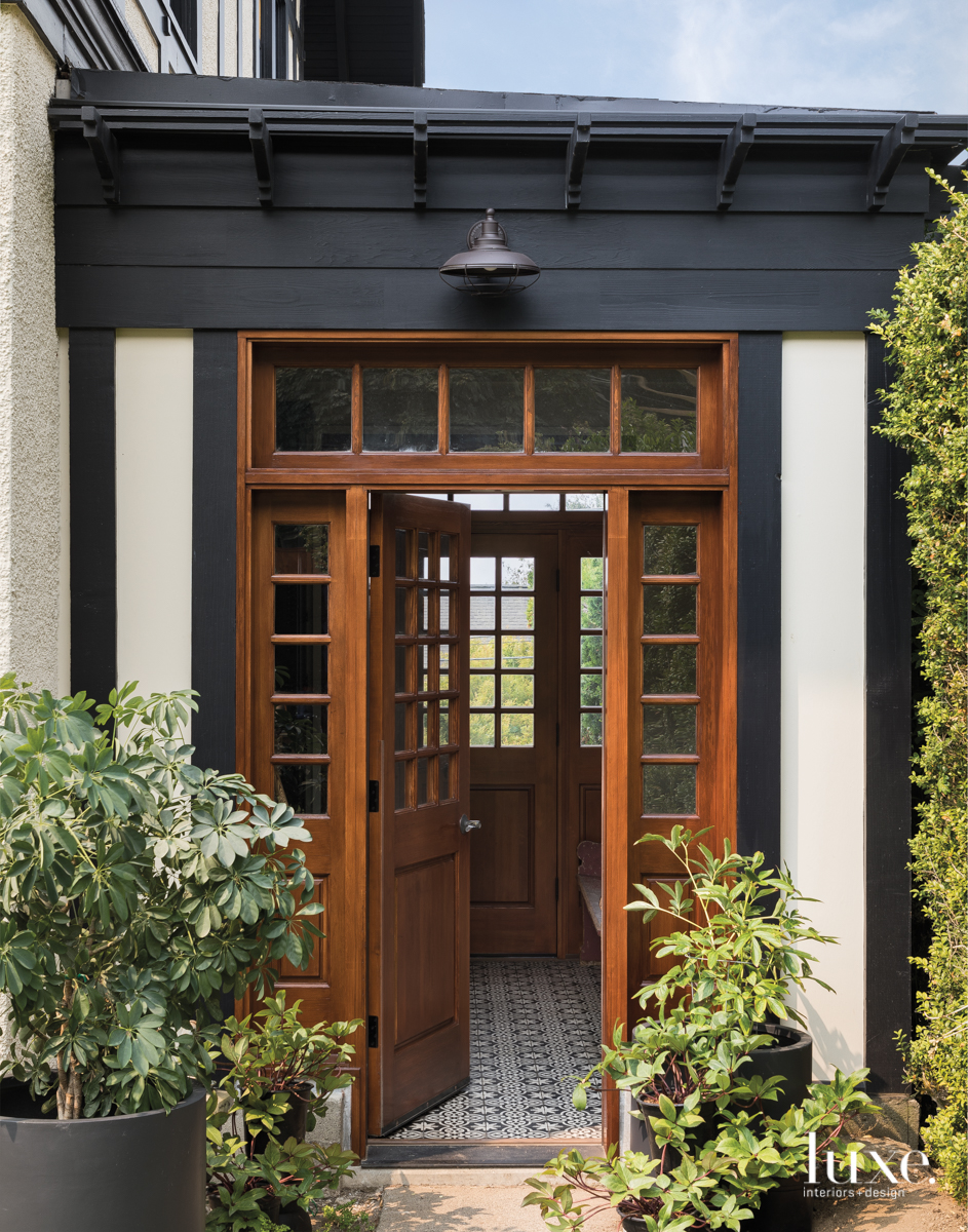 contemporary exterior entry