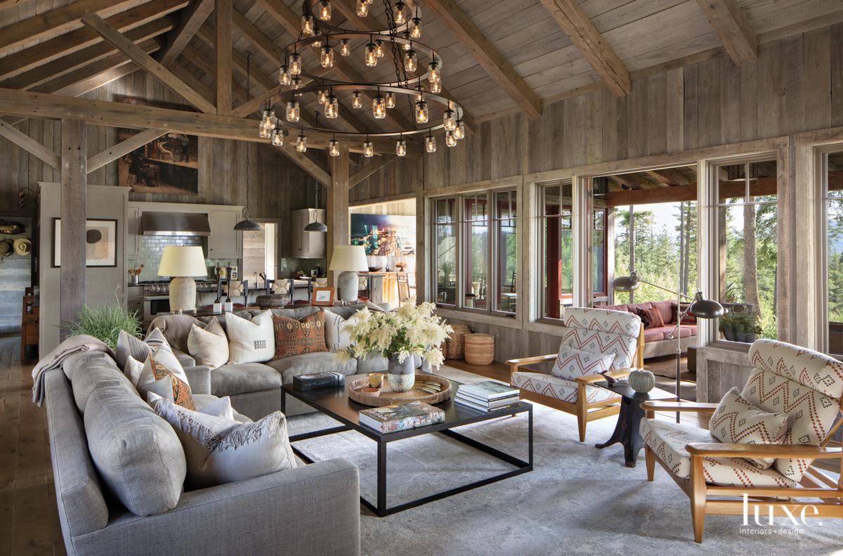 rustic living room neutral palette