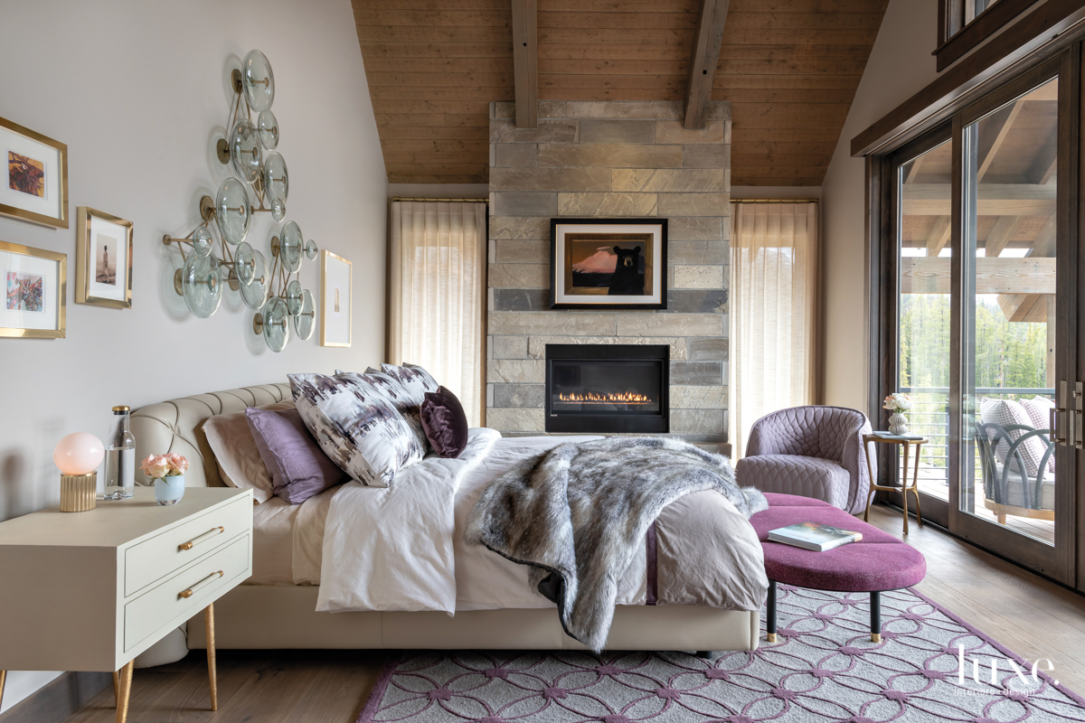 contemporary bedroom neutral palette with...