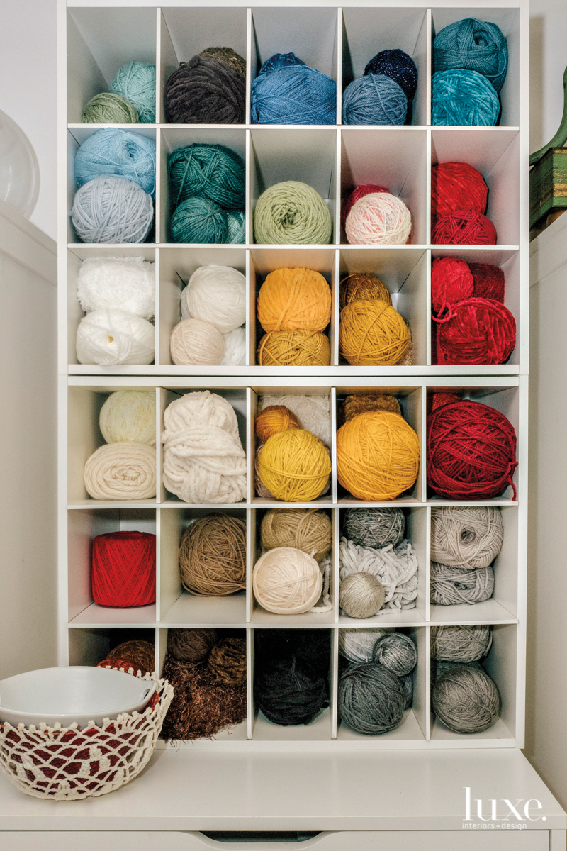 Colorful yarn is a go-to material for Gross.