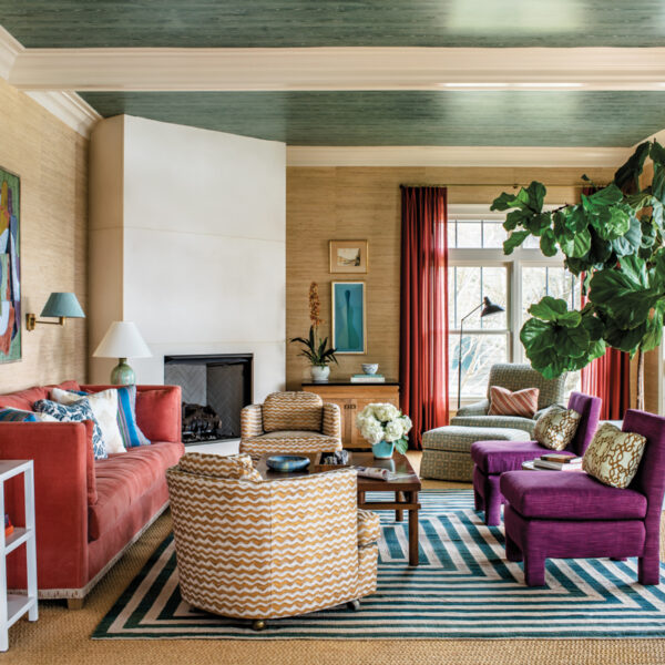 Colorful Rooms Invigorate A Casual Sullivan's Island Home