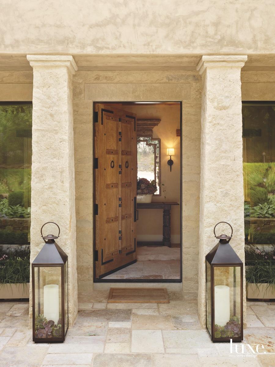 mediterranean exterior entry oak door