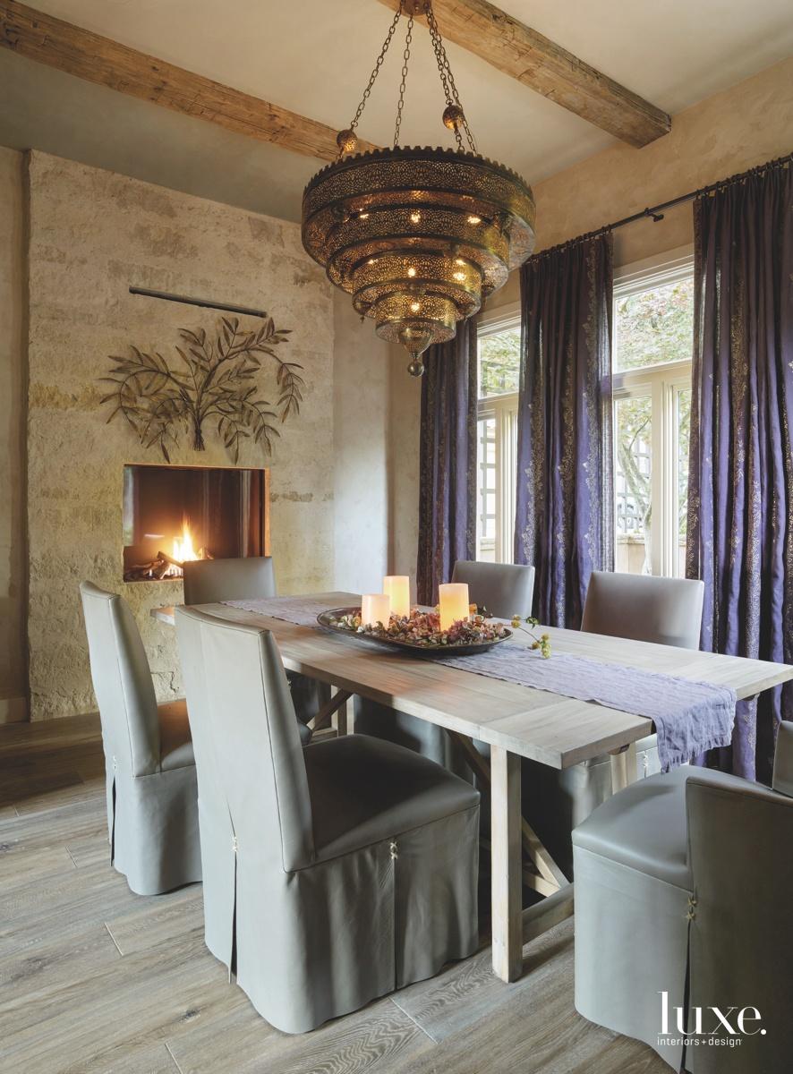 mediterranean dining room chandelier purple...