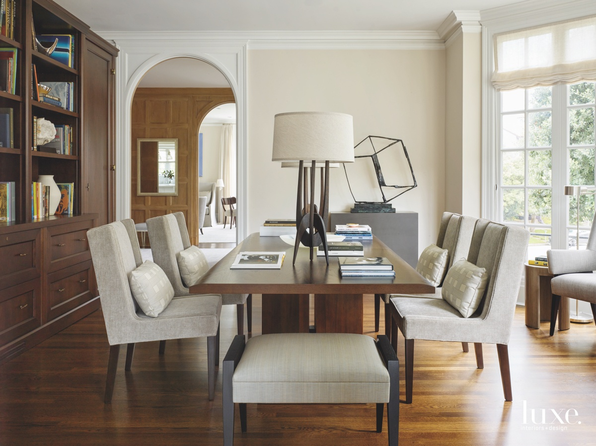 transitional dining room library