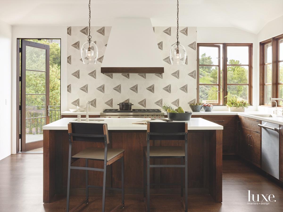 contemporary neutral brown kitchen