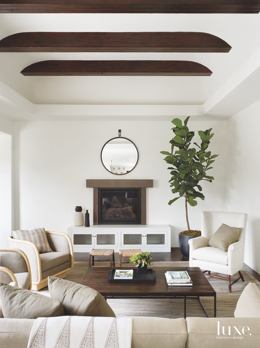 contemporary neutral living room coffee...