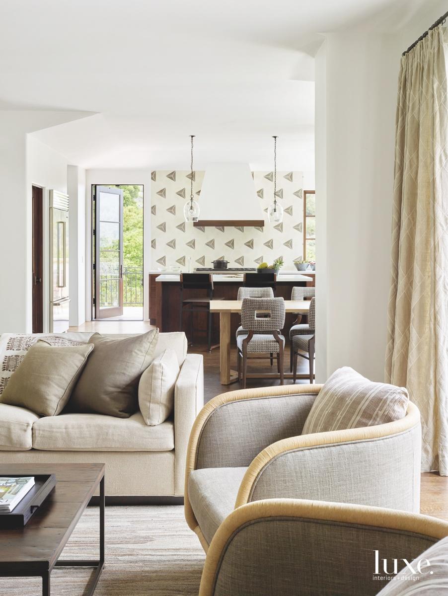 contemporary neutral living room sofa
