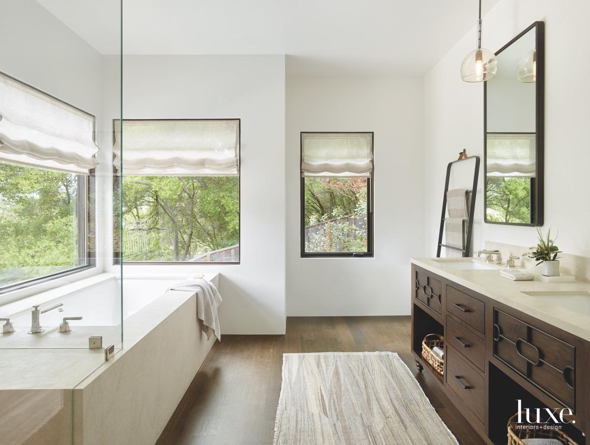 contemporary bathroom rug pendant