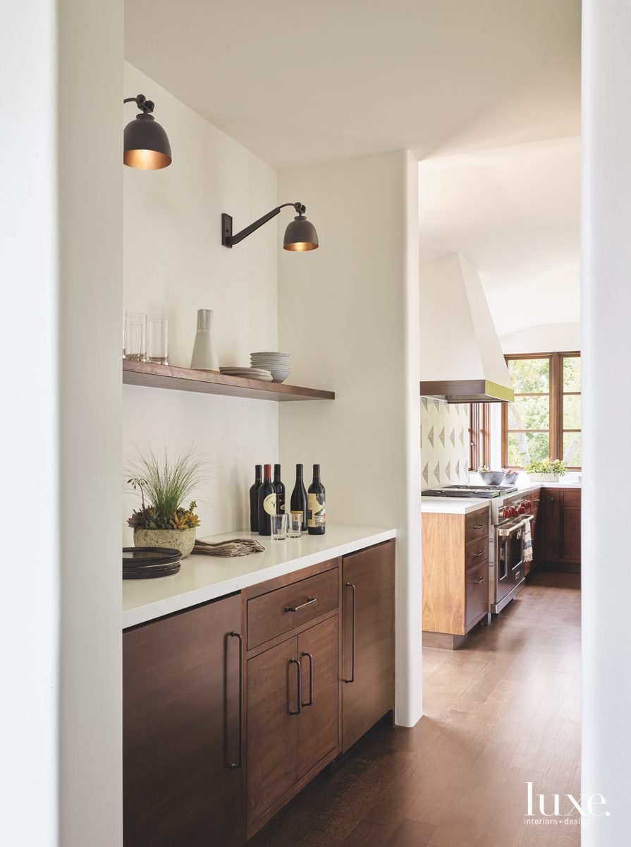 contemporary pantry kitchen wood cabinetry