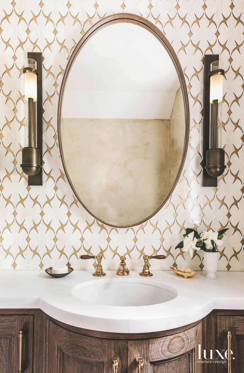 eclectic bathroom sink and mirror...