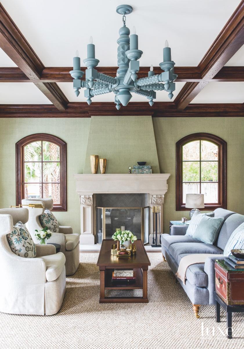 eclectic living room gray sofa...