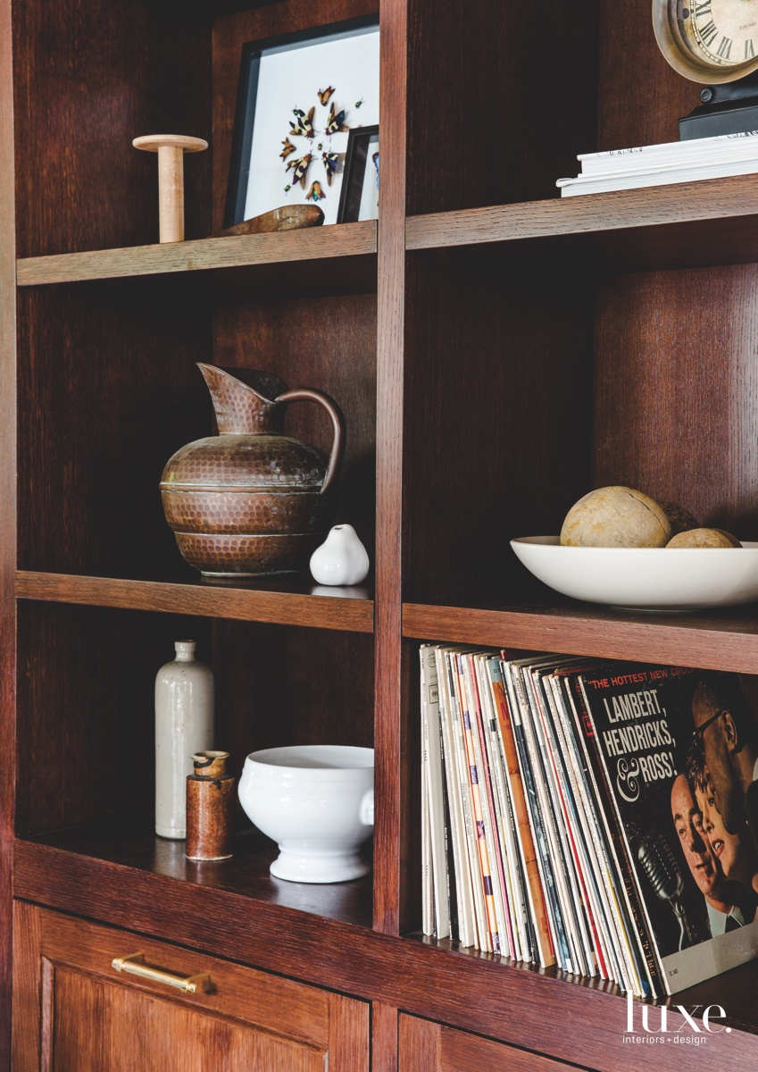 eclectic living room bookcase brown