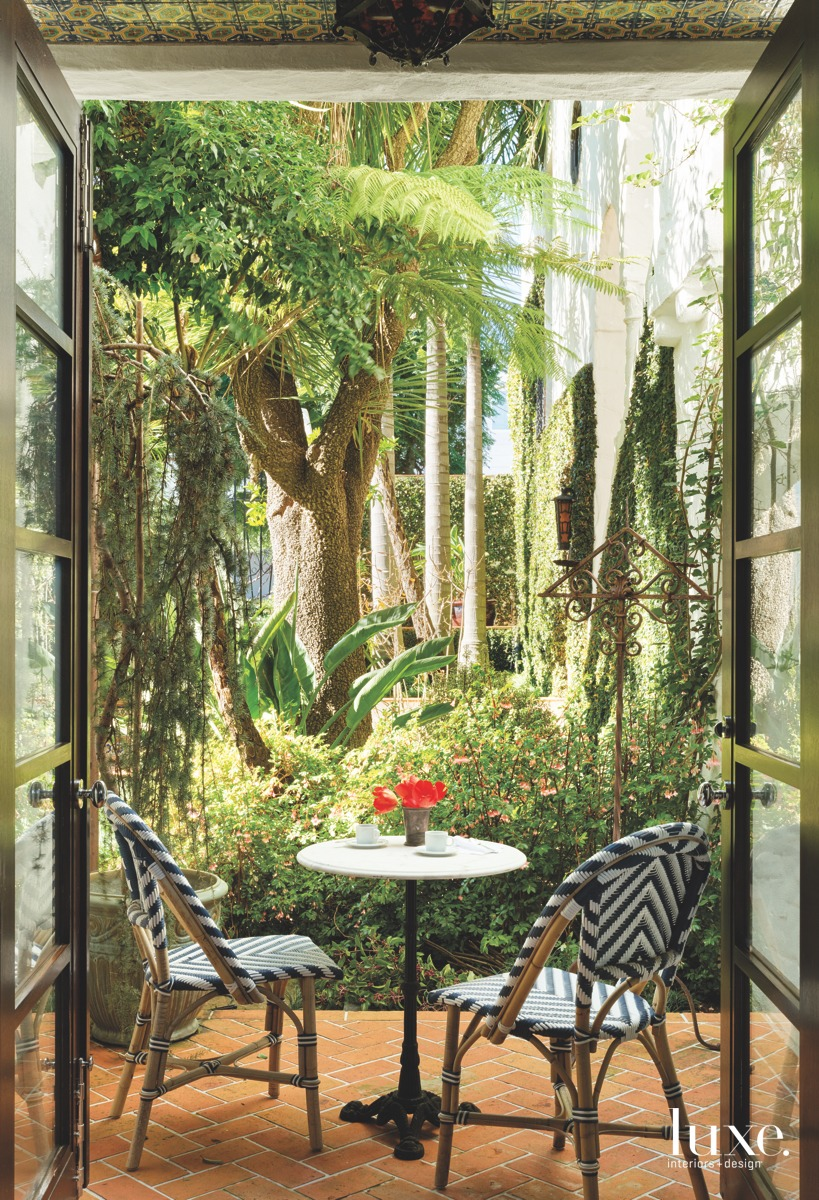 mediterranean sitting area outdoors anqitue...