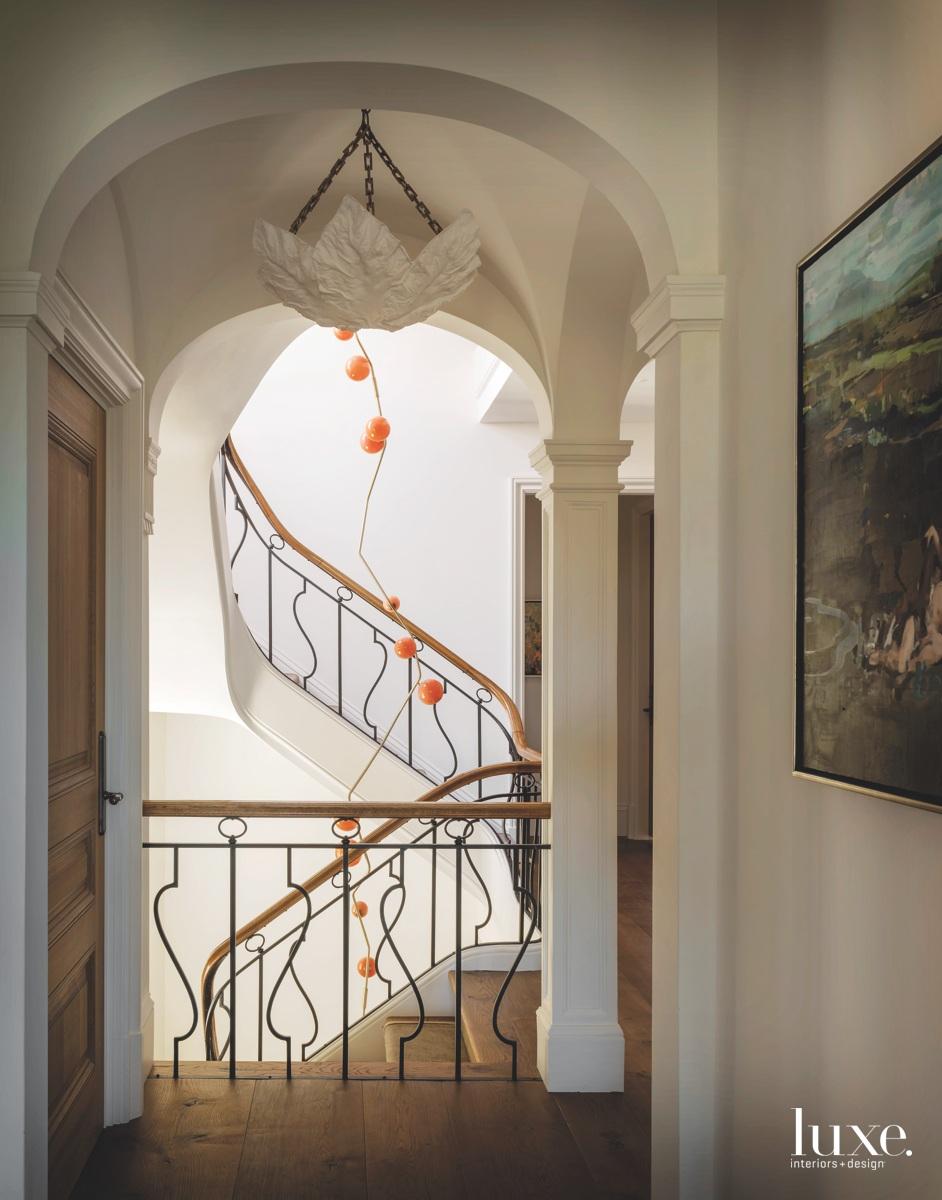 modern hallway stairwell