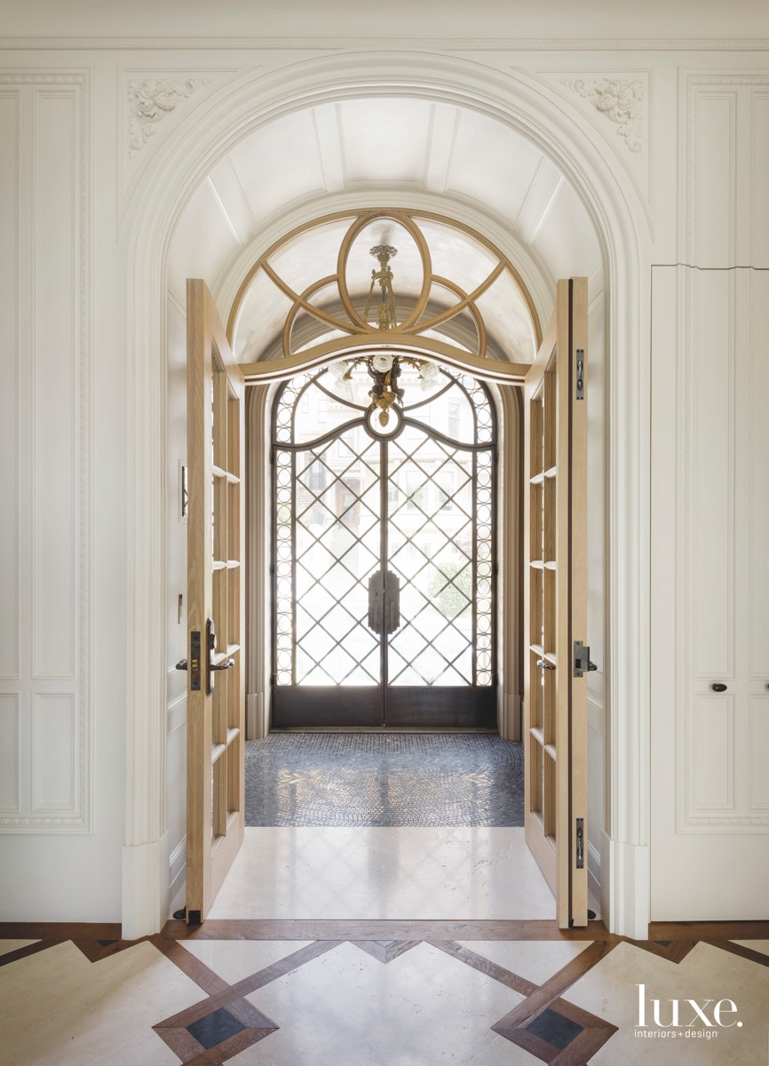 modern entry intricate door