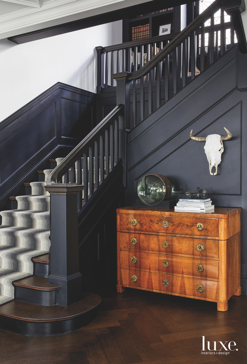 modern black staircase