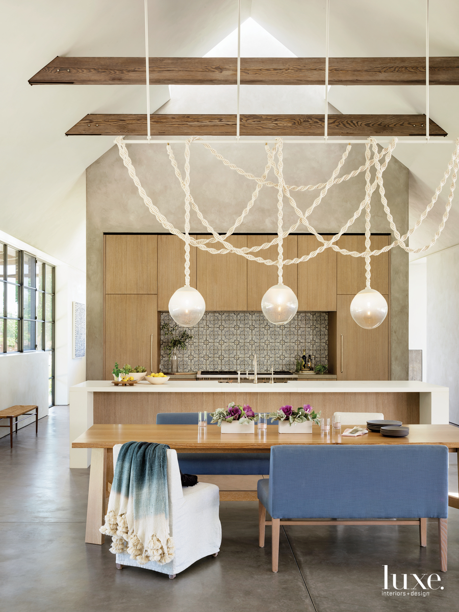 rustic dining area by kitchen...