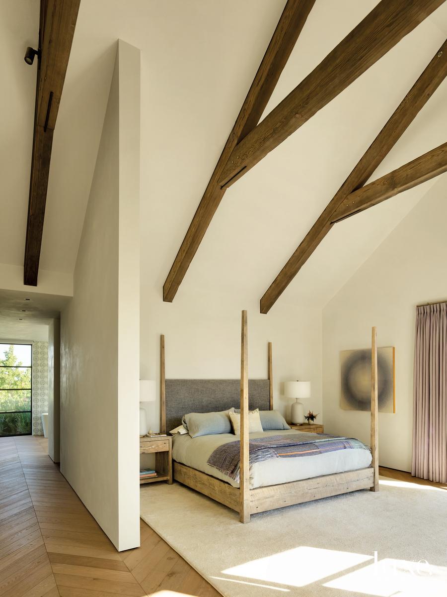 rustic bedroom neutral palette